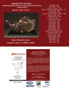 Exhibit celebrating all Artists of the Year at PVAC